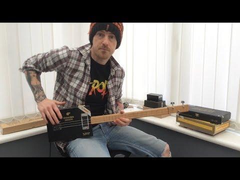 How to play an SRV style 12 bar blues on cigar box guitar