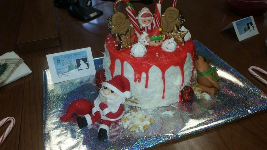 Hungry santa cake