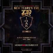 1 OAK LA NYE New Years 2019