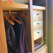 Knotty alder RV wardrobe closet