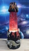 Custom Black and red glitter in Dino lamp