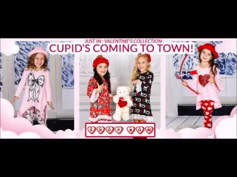 Adorable Valentines Day themed clothing including dresses, sets and accessories.