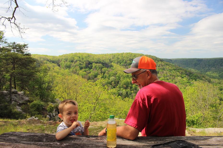 Gabriel and Kenny at Deer Gap Overlook