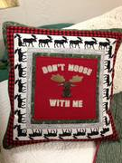 Don't Moose with me 2 t-shirt Christmas pillow