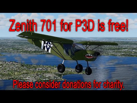 STOL CH 701 flight sim for P3D is FREE!