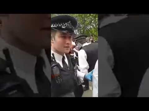 Covid demo Piers Corbyn arrested