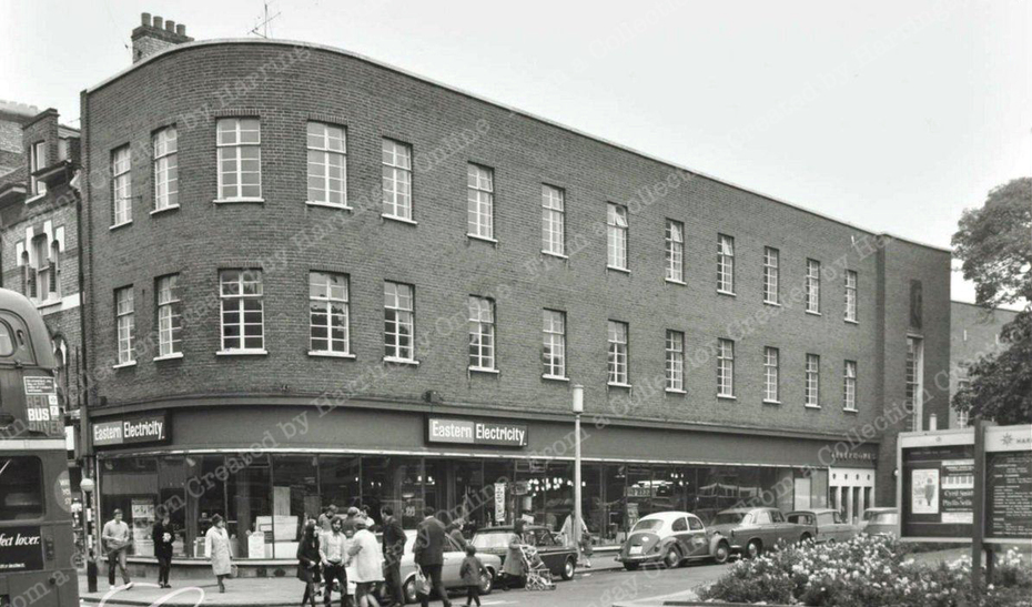 Town Hall Square, Crouch End, c1970