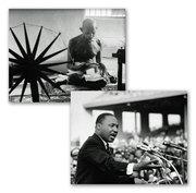 Mahatma K Gandhi and Martin Luther King jr.