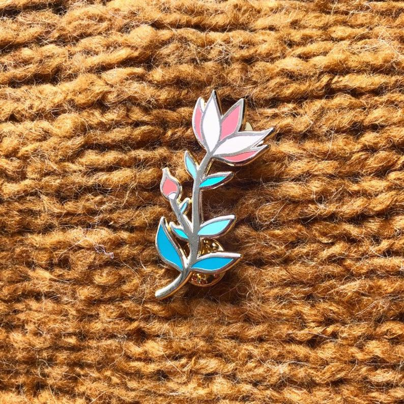 Broche florale de Morgane Carlier