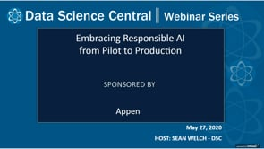DSC Webinar Series: Embracing Responsible AI from Pilot to Production