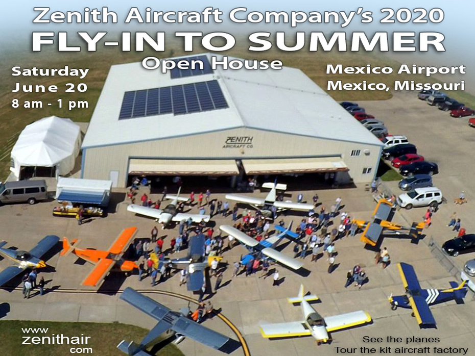 """""""Fly In to Summer"""" Open House: Saturday, June 20, 2020"""