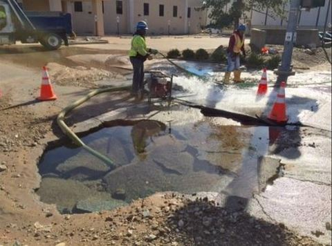 Water Main Breaks Gusher – Earth Changes and the Pole Shift