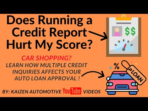 Car Loan Shopping: Does Running Your Credit Report Hurt, Lower, or Affect Your Credit FICO score?