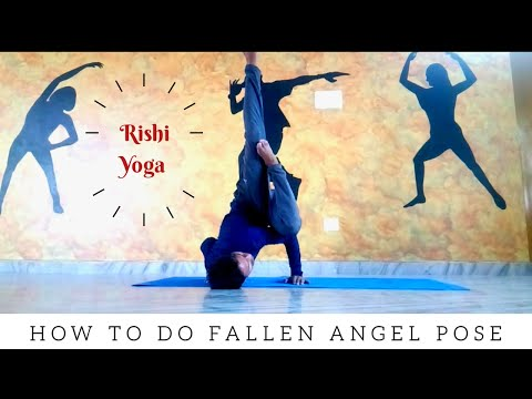 How to do Fallen Angel Pose / Rishi Yoga /#advanceyoga #yogaforall #yogalove