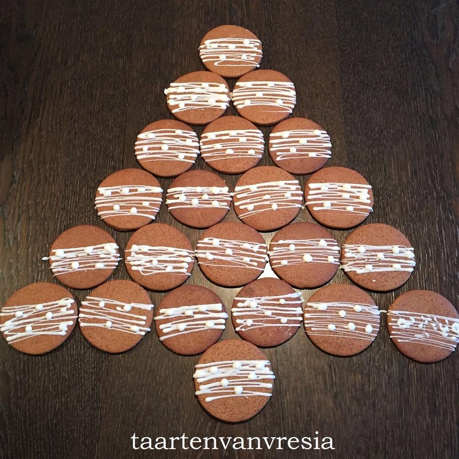 Gingerbread koekjes met witte chocolade