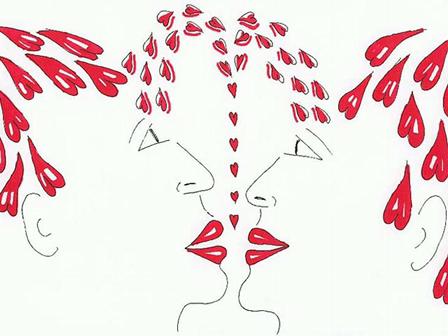 gay couple kissing erotic drawings of men kiss homosexual art