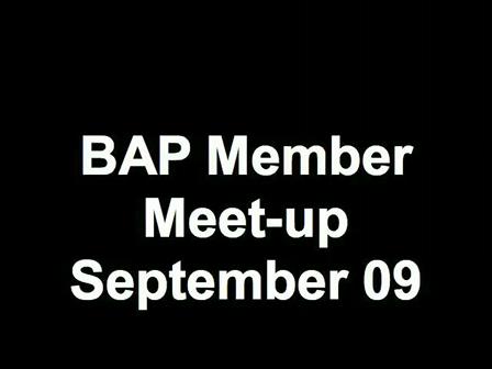 BAP Member Meet-up September 09
