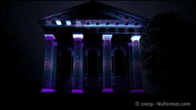 Stellar Projection on Buildings (3D Video Mapping)