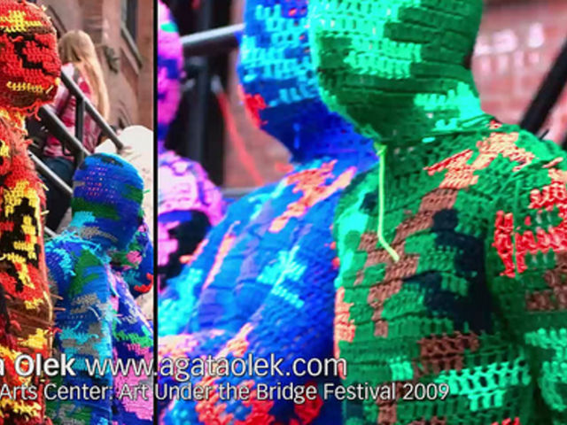 Artists on Art: 100% Acrylic Art Guards by Agata Olek / Dumbo Art Festival 2009 / SML