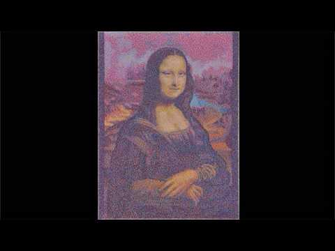 fine arts, mona lisa, making of, speedpainting, pixelism, by patrick egarter