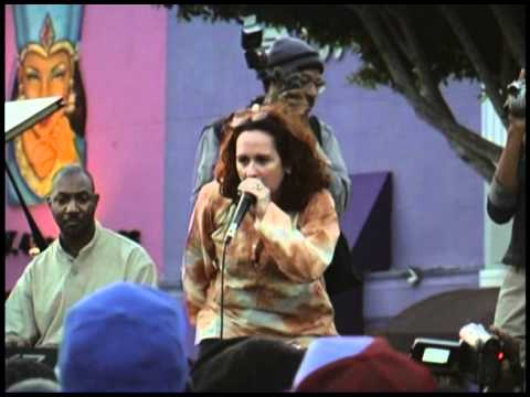 Teena Mari in Leimert Park outdoor concert in 2002