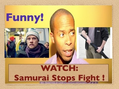 WATCH: Subway Samurai Breaks Up Brawl!  (Funny News)