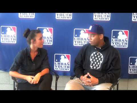 MLB Urban Youth Academy Compton, Jennifer Hain speaks with Dominique Smith