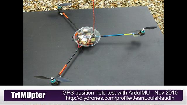TrIMUpter - GPS Position hold test with ArduIMU + GPS EM406