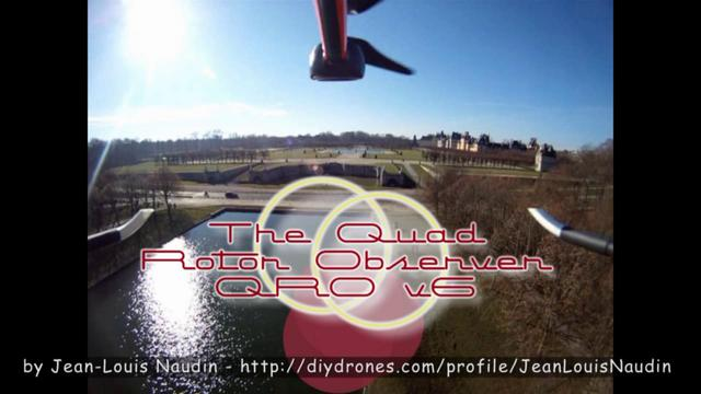 Flying with a quadcopter UAV near a Castle with a GoPro HD Wide