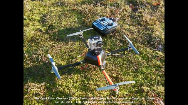 QRO v5 flight with a GoPro HD Wide on board