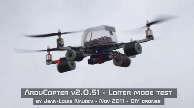 ArduCopter v2 - Successful test of LOITER mode