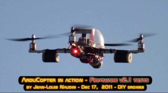 ArduCopter v2.1 firmware: Full test flight