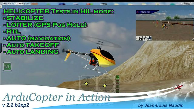 ArduCopter in Action - Flying an Helicopter in HIL mode