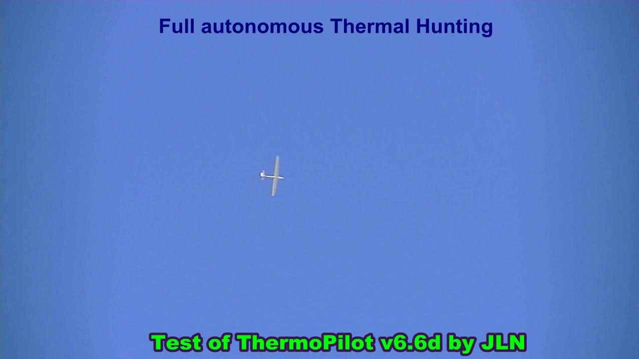 Full autonomous Thermal Hunting with a glider piloted by the ThermoPilot v6.6d