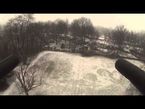 Quad Copter Flying in the Snow GoPro Hero 3 White Edition
