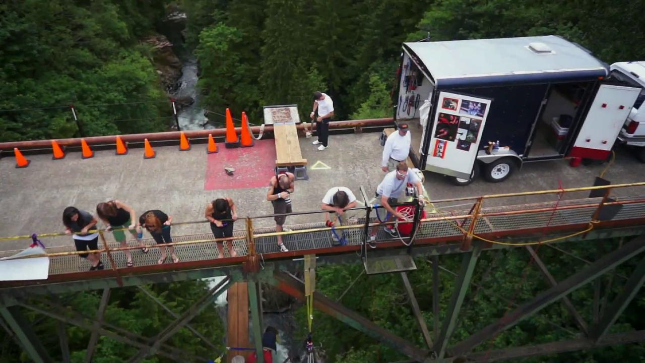 Aerial Technology International: Bungee jumping in Amboy, WA