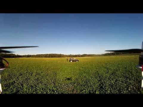 Ardupilot Quadcopter FPV Flight in Old Town Maine