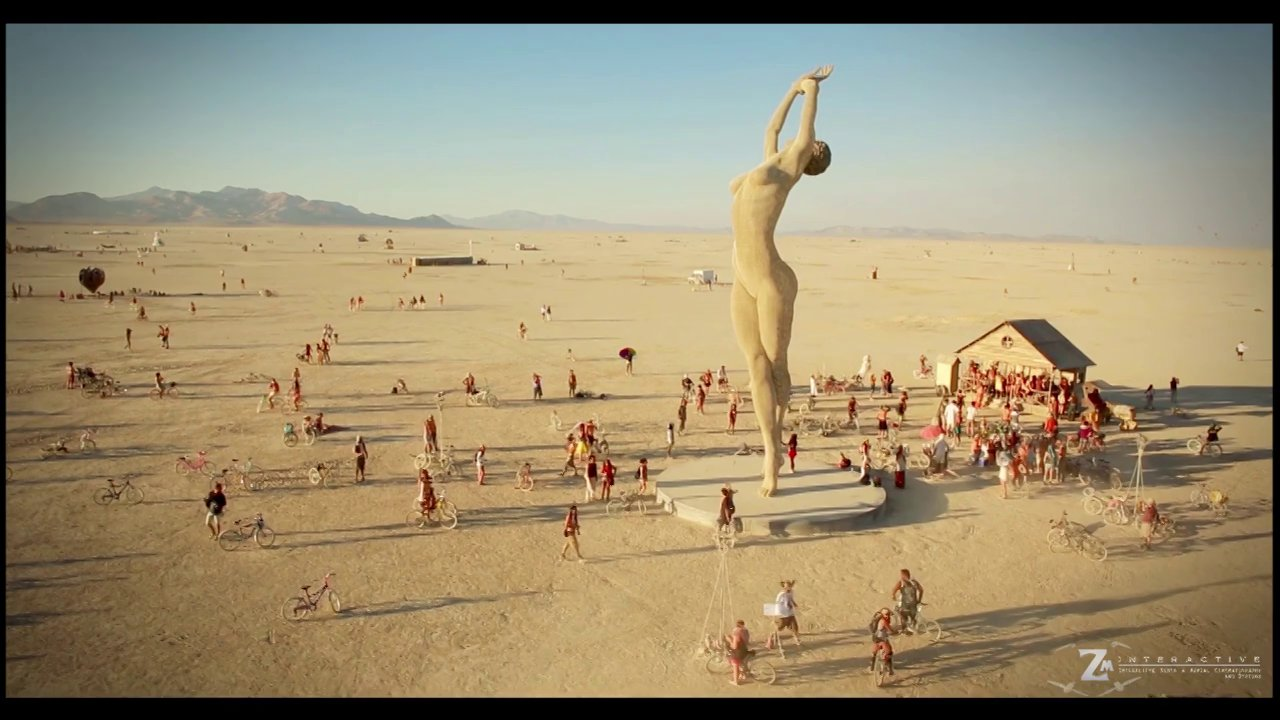 Burning Man 2013 Aerial Video - The Woman