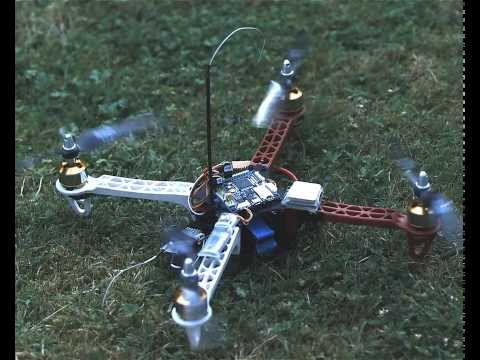 F330 mini quadcopter idle vibrations high-speed shot