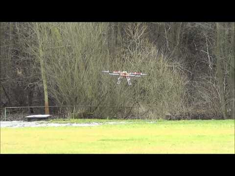 H.A.L. hexacopter first flying test - with CRASH !!!!