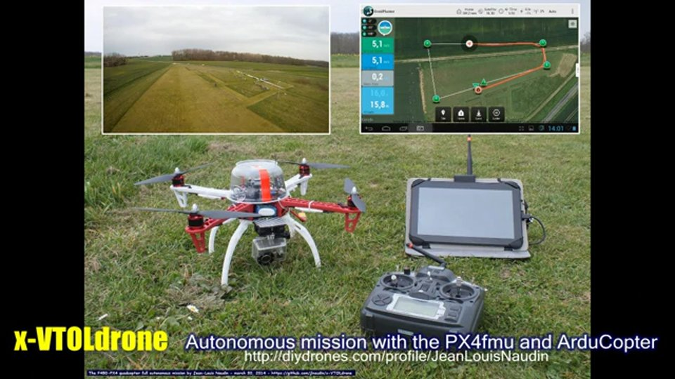 ArduCopter PX4-F450 full autonomous mission