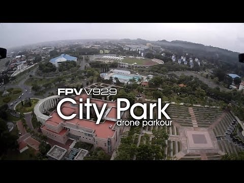 FPV 80gram mini quad v929 - City Park drone parkour