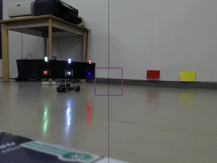 Horizontal and depth position control of mobile robot using only Web camera