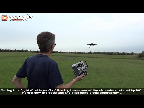 """APM:Copter V3.3 RC5"" - Failure and recovery: one motor rotated by 90° during flight"