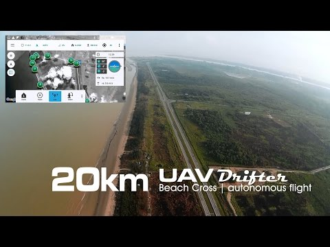 20km Beachline crossing, UAV drone - Drifter ultralight