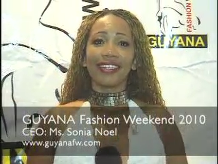Sonia Noel is founder of Guyana Fashion Weekend Event
