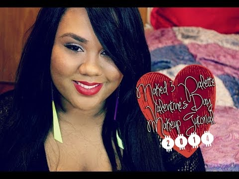 Naked 3 Palette Valentine's Day Makeup Tutorial 2014