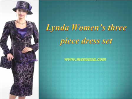 Lynda Women's three piece dress set
