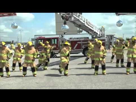 Firefighter Flash Mob: Stayin' Alive
