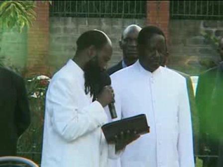 Dr Owuor Baptizes Prime minister Of Kenya